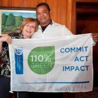 Receiving our 110 Percent Green Flagship from the Premier Helen Zille